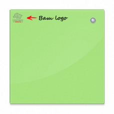 Магнитная доска стеклянная 45x45 см 2x3 зеленая (TSZ4545G) с нанесением логотипа
