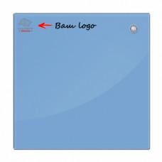 Магнитная доска стеклянная 90x120 см 2x3 голубая (TSZ129N) с нанесением логотипа