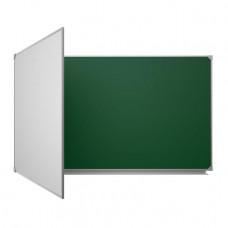 Магнитная доска настенная мел/маркер 100х300 см Ukrboards 3 рабочих поверхностей (UB100x300GW-3)