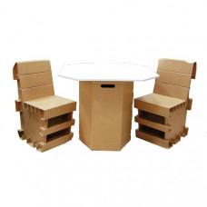 Комплект (стол и 2 стула) Римини из гофрокартона (x00515)