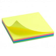 Бумага для заметок с клейким слоем Axent 75х75 мм 100 листов неон (D3325-02)