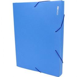 Папка-бокс на резинке Economix А4 ширина 4 см пластик цвет синий (E31402-02)