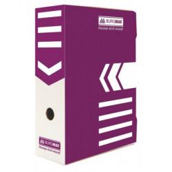 Папка-бокс для архивации BuroMax ширина 10 см картон цвет фиолетовый (BM.3261-07)