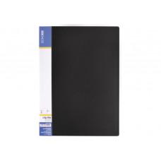 Папка с прижимом Economix А4 Clip B Light пластик цвет черный (E31208-01)