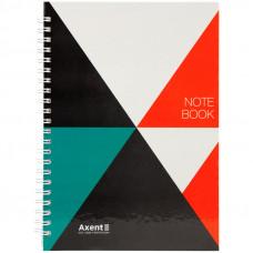 Блокнот Axent А5 96 листов твердая обложка боковая пружина (8032-03-A)