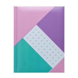 Блокнот FUSION Buromax А5 80 листов, клетка, твердая обложка, фиолетовая (BM.24582102-07)