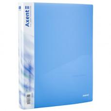 Папка на 4 кольца A4 Axent 35мм прозрачная синяя (1208-22-A)