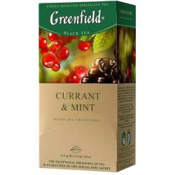 Чай Greenfield Currant & Mint черный со смородиной 25 пакетиков