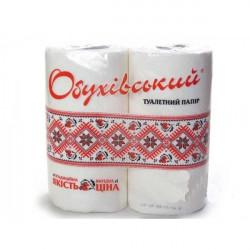 Бумага туалетная Обухівський 4 рулона 2-х слойная белая