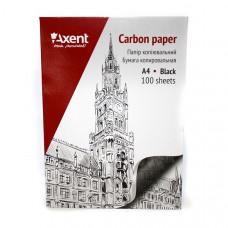 Бумага копировальная Axent А4 100 листов черная (3301-01-A)