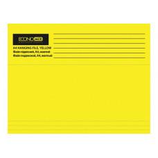 Файл (Папка, обложка) подвесной для картотеки Economix А4 картонный желтый (E30202-05)