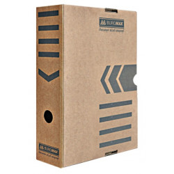Папка-бокс для архивации BuroMax А4 ширина 8 см гофрокартон крафт (ВМ.3260-34)
