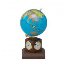Глобус Bestar на деревянной подставке с метеостанцией, орех (0966HJX-B)