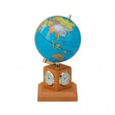 Глобус Bestar на деревянной подставке с метеостанцией, светлая вишня (0966HJY-B)