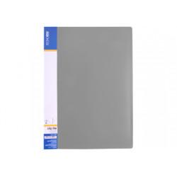 Папка-скоросшиватель Economix А4 Clip A Light пластиковая цвет серый (E31207-10)
