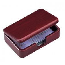 Контейнер для визиток деревянный, красное дерево (1315WDM)