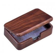Контейнер для визиток деревянный, орех (1315WDN)