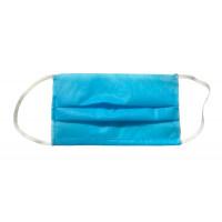 Маска защитная для лица, трехслойная, нестерильная, одноразовая, упаковка 50 штук