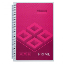 Блокнот Prime BuroMax А5 96л на боковой пружине клетка розовый (BM.24551101-10)