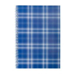 Блокнот JOBMAX SHOTLANDKA А5 48 листов клетка картонная обложка синяя (BM.2591-02)