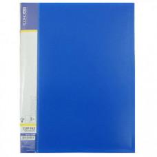 Папка с прижимом Economix Light А4 Clip B пластик синяя (E31208 -02)