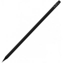 Карандаш чернографитный Optima All BLACK черный корпус HB с ластиком (O15540)