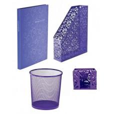 Набор канцелярских принадлежностей Barocco металл. фиолетовый BUROMAX 5 предметов