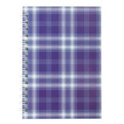 Блокнот BuroMax SHOTLANDKA А6 48 листов клетка картонная обложка на пружине фиолетовая (BM.2592-07)