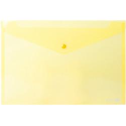 Папка-конверт на кнопке Economix А4 пластиковый прозрачный желтый (E31301-05)