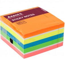 Бумага для заметок с клейким слоем Axent 75х75 мм 450 листов неон (2326-53-А)