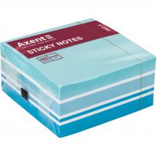 Бумага для заметок с клейким слоем Axent 75х75 мм 400 листов радуга пастель голубой (2327-70-А)