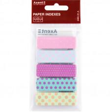 Закладки бумажные с рисуноком Dots 5 цветов 12х50 мм 100 штук (2490-01-А)