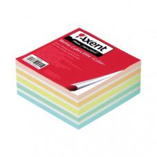 Блок бумаги для заметок проклеенный Axent Elite Color 9х9х4 см цветной (8027-A)