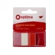 Стикеры-закладки Optima 45х25 мм 50 листов красные (O25533-03)