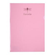 Папка-уголок А4 BUROMAX 180 мкм FAVOURITE PASTEL розовая (BM.3855-10)