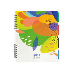 Блокнот Optima Flowers В5 120 листов с разделителями на боковой пружине (O20356-16)
