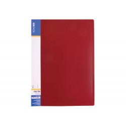 Папка-скоросшиватель Economix А4 Clip A пластик красный (E31201-03)