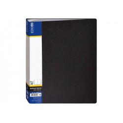 Дисплей-книга 60 файлов Economix А4 пластиковая цвет черный (E30606-01)