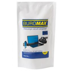 Запасной блок салфеток для экранов, мониторов и оптики BuroMax 100 штук (BM.0800-01)