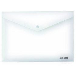Конверт на кнопке Economix А4 пластик прозрачный (Е31301-00)