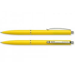 Ручка шариковая Schneider К15 автоматическая 0, 7 мм желтый корпус пишет синим (S93085)