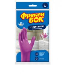 Перчатки Фрекен Бок универсальные суперпрочные размер L розовые (17105190)