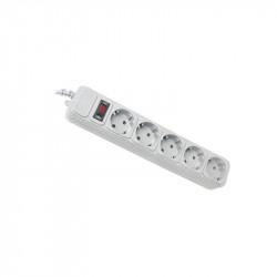 Сетевой фильтр Maxxter SPM5-G-10G 5 розеток 3 м серый