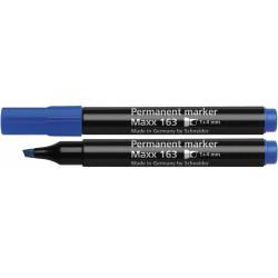 Маркер перманентный Schneider MAXX 160 1-3 мм синий скошенный наконечник (S116003)