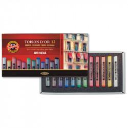 Пастель сухая Koh-I-Noor TOISON D'OR 12 цветов для художественных работ (8512)