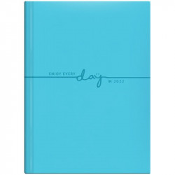 Ежедневник датированный А5 на 2022 Brunnen Стандарт Torino Trend голубой (73-795 38312)