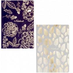 Блокнот Optima Flowers А5 80 листов клетка Soft touch термобиндер (O20371-01)