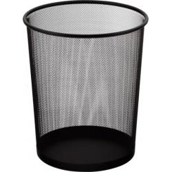 Корзина для бумаг большая d 29 см 19 л металл. сетка черная (613300)