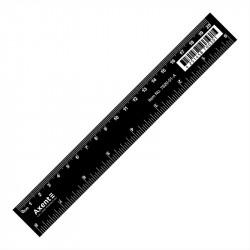 Линейка 20 см пластиковая Axent черная (7620-01-A)
