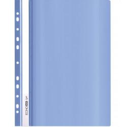 Скоросшиватель с прозрачным верхом Economix Light А4 с перфорац. пластик синий глянец (E38504-02)